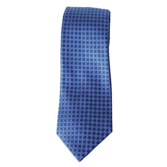 MICHAEL KORS Blue Small Stitched Neat Silk Tie